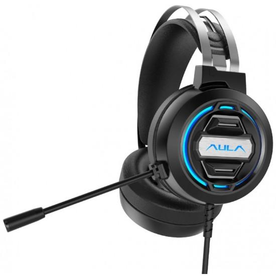 AULA gaming headset S603USB, RGB, USB, 50mm, μαύρο