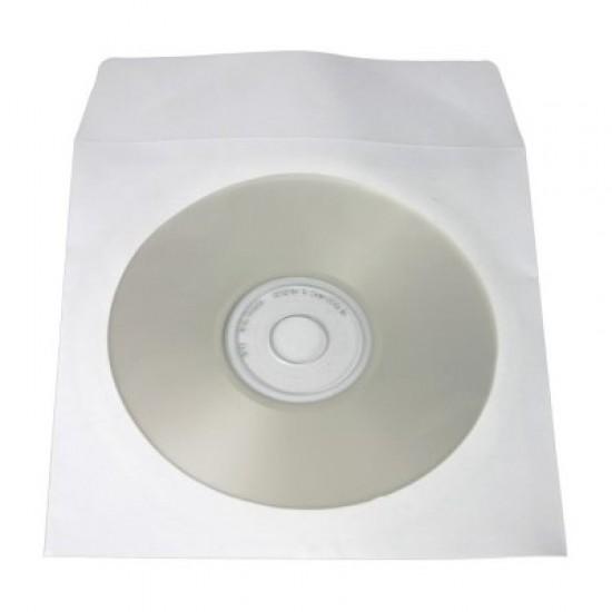 Χάρτινος φάκελος αποθήκευσης οπτικού μέσου με παράθυρο BOX0063, 50τμχ