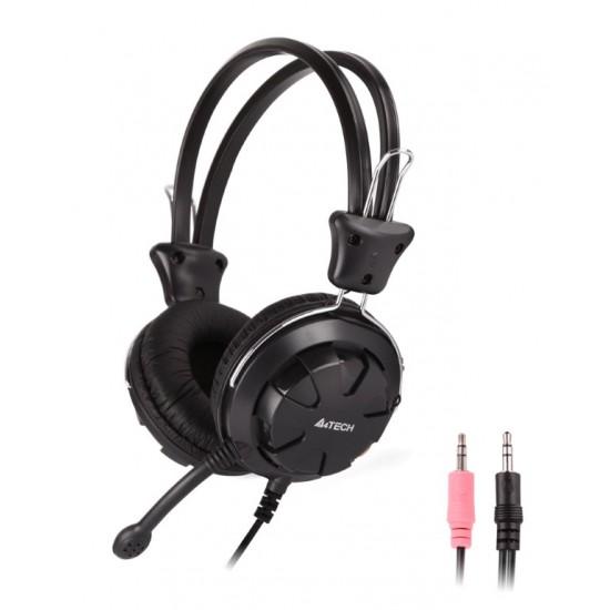 A4TECH Headset HS-28, 3.5mm, 40mm ακουστικά, stereo, μαύρα