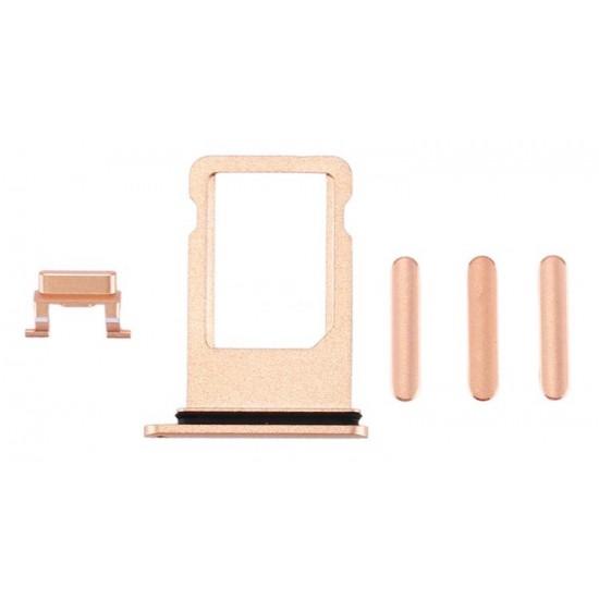 Υποδοχή κάρτας SIM και Side Button για iPhone Plus, χρυσό